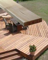 Høvlet terrassebrædder