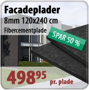 Facadeplade 8mm - fibercement