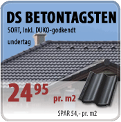 DS betontagsten i sort